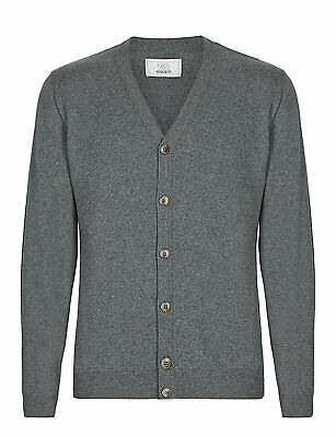 Marks & Spencer Mens V Neck Pure Cotton Cardigan New M&S Fine Knit Cardie Top
