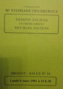 1981 Catálogo De Venta Demuestra Drouot Dibujos Antiguos Extreme Orient Muebles