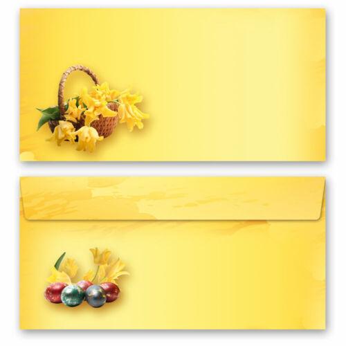 DL Briefpapier mit Umschlag Briefpapier Set OSTERFEST ohne Fenster 20-tlg