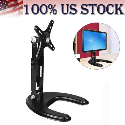 "10/""-24/"" LCD Single Monitor Stand Desk Mount Computer Display Bracket Adjustable"