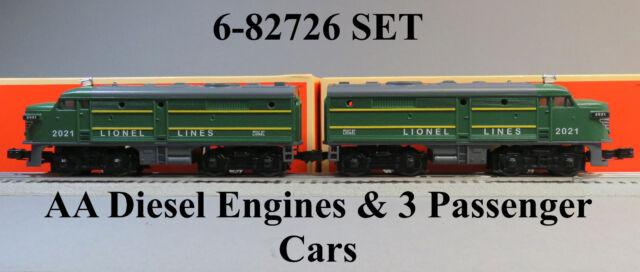 Lionel Lines Postwar Green Alco Fa Aa Diesel Train Set O Gauge 6