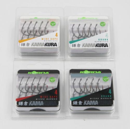 Korda Kamakura Karpfenhaken Wide Gape Krank Haken Gr 6 8 Carp Hooks 4