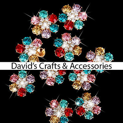 crafts scrapbooking 4pcs alloy rhinestone crown cabochons-diy phone decor