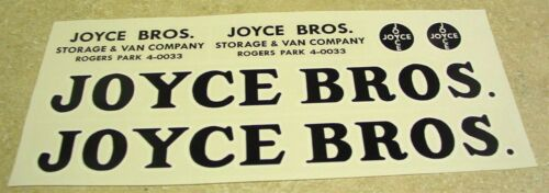 Tonka Joyce Brothers Allied Van Lines Stickers   TK-143