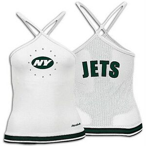 50132401b REEBOK NEW YORK JETS LADIES WOMENS HALTER TOP L JUNIOR LARGE NWT NFL ...