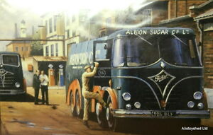 Foden-Trucks-Albion-Sugar-Commercial-Vehicle-Vintage-Scene-Art-By-Mike-Jeffries