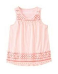 NWT-Gymboree-Girls-Island-Cruise-Pink-With-Neon-Design-Tank-Top-Size-5-6-7-amp-10