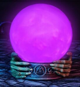 Halloween Fortune Teller Led Lighted Animated Witch Orb