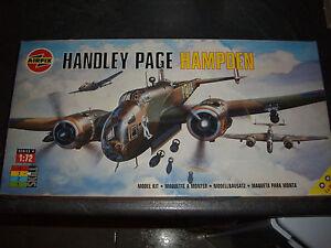AIRFIX-HANDLEY-PAGE-HAMPDEN-PLASTIC-MODEL-1-72