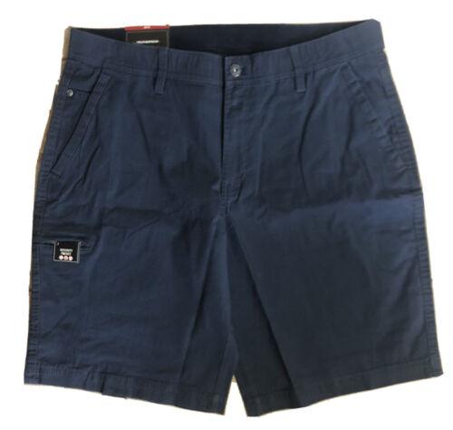 NWT Men's Weatherproof Navy Blue Sz 36 Ripstop Utility Shorts Flex Waistband