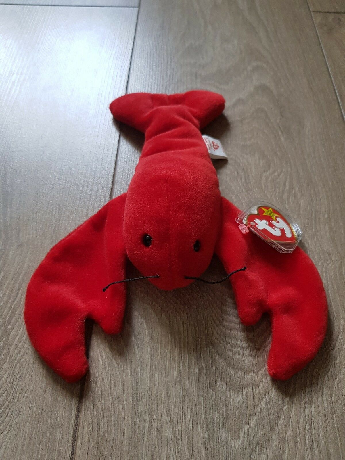 TY beanie baby 'PINCHERS' the lobster. 1993. Indonesia. RARE  ORIGINAL 9