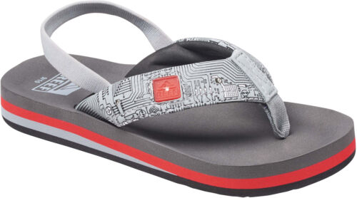 Reef Ahi Light Up Prints Flip Flops in Red//Grey