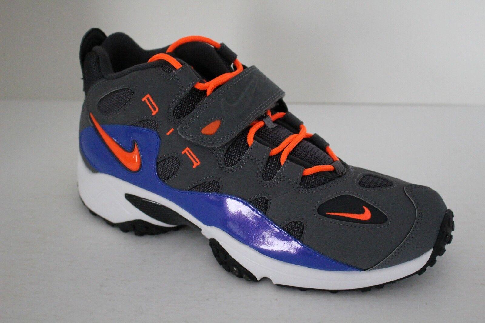 Nike Air Turf Raider Mens Basketball Trainers Anthracite Crimson Hyper bluee Blk