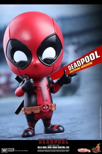 Hot Toys COSB221 Bobble-Head Cosbaby Deadpool Gesturing Version figure in stock