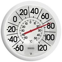 Extra Large Jumbo Big Easy Read Outdoor Patio Pool Deck Thermometer W/celsius