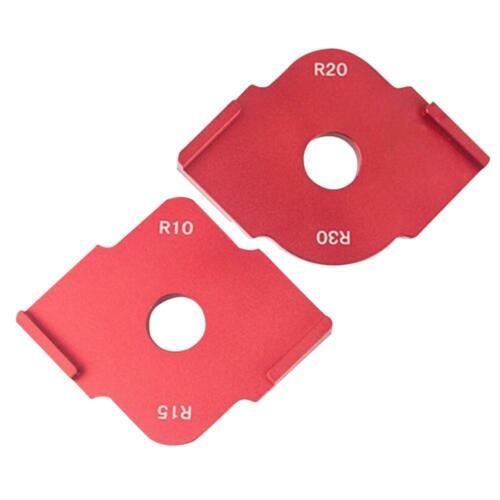 2pcs Wood Panel Quick Radius Corner Table Bits Router Jig Angle Templates