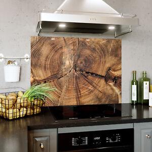 Brown Wood Grain Texture Verre Splashback Cuisine & Salle De Bains Toute Taille 0442-afficher Le Titre D'origine Renforcement De La Taille Et Des Nerfs
