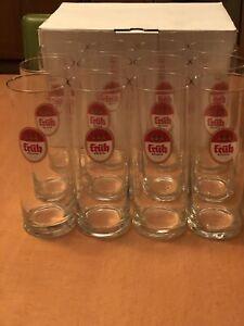 Fruh Kolsch *Stange* set of 4 NEW German Beer Glasses 0.2 Liter