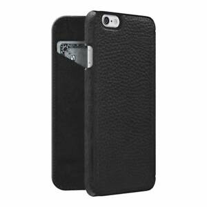 iPhone-6-6s-Flip-Case-Wallet-REAL-GRAINED-BLACK-LEATHER-CC-Slot-by-Adopted-Boxed