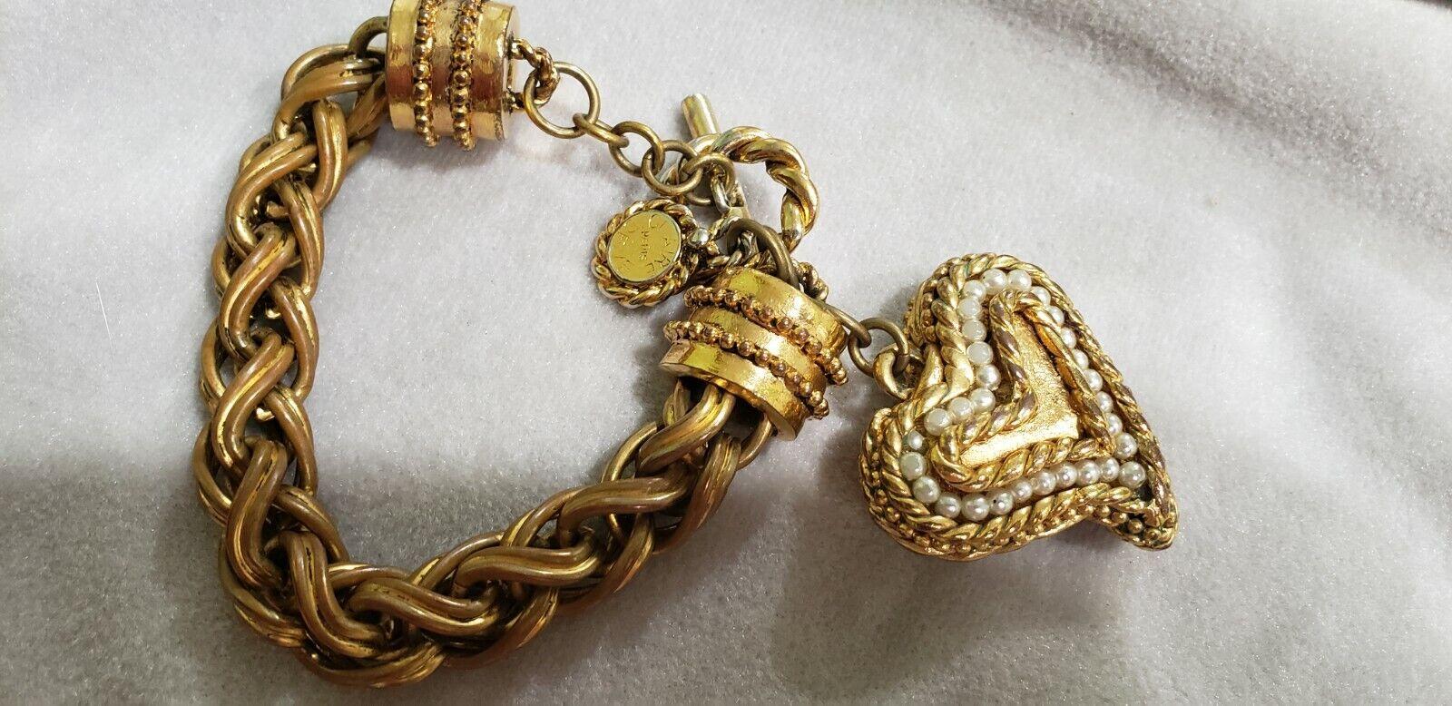Vintage Claire Deve Paris Signed Link Thick huge … - image 4