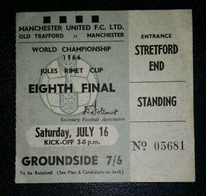 1966-Original-Copa-Del-Mundo-Ticket-Portugal-vs-Bulgaria-de-Edad-Trafford