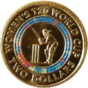 NEWEST-Women-039-s-T20-World-Cup-Two-Dollar-Coloured-Coin-FREE-SHIPPING