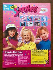 1988-Get-Into-Club-Smooshees-Vintage-Print-Ad-Poster-80s-Pop-Art-Decor