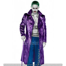 Jared Leto Purple Trench Coat Suicide Squad The Joker Adult Halloween Costume