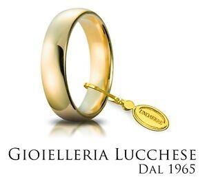 Fede-Nuziale-UNOAERRE-5-gr-Fascia-larga-Oro-giallo-Classica-Mantovana-Matrimonio