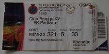 OLD TICKET EL Club Brugge KV Belgium - Partizan Beograd Serbia