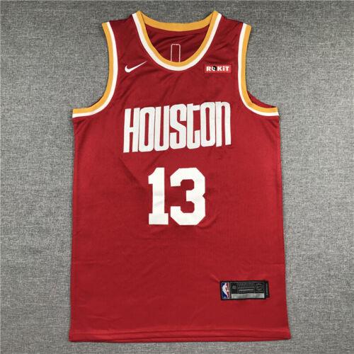 Retro James Harden #13 Houston Rockets Basketball Jersey Stitched Red