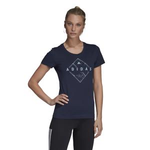 on sale 8b1ab 4f07e Image is loading Adidas-Women-Tshirts-Running-Emblem-Tee-Training-Fitness-