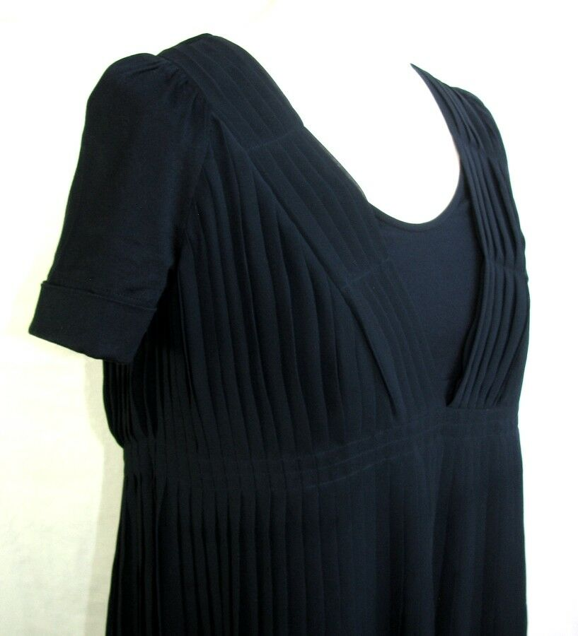 COMPTOIR DES COTONNIERS PLEATED PLEATED PLEATED MOD. CADENCE NAVY blueE T 38 EXCELLENT CONDITION 453009