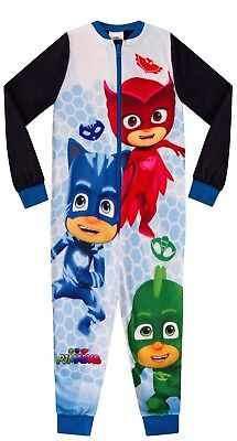 Ages 18 Months To 5 Years PJ Masks Fleece All In One Sleep Suit