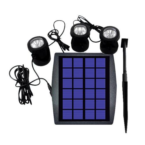 Outdoor Solar Powered LED 3 RGB Spotlight Garden Pool Pond Spot Light BT M7I4