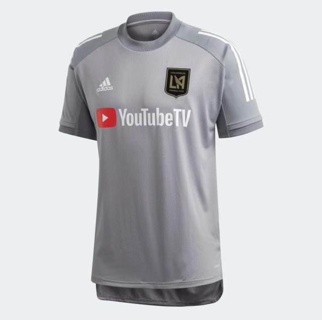 adidas Los Angeles FC Training Jersey Mens Fi2345 Grey White Size ...