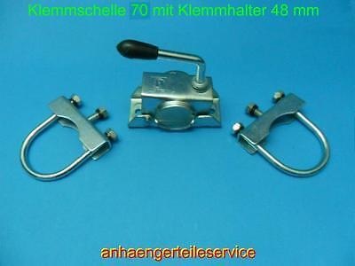 Rohrdeichselhalter Klemmschelle 70 mm Ø. M10 verz. für Stützen Stützrad L2109.4