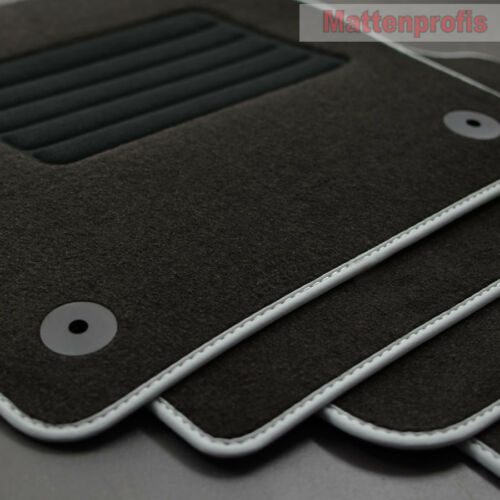 Alfombrillas profesionales gamuza tapices adecuado para VW Polo vi 6 AW 2g a partir de año 09//2017 Sil