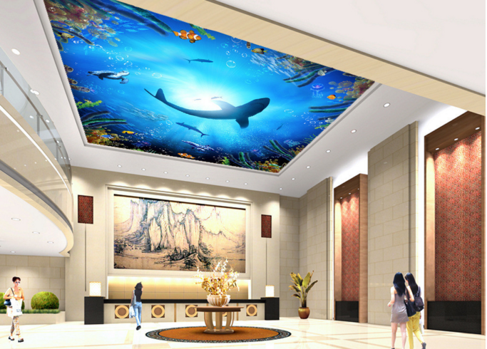 3D Sun Sea Dolphin 729 Wall Paper Wall Print Decal Wall Deco AJ WALLPAPER Summer