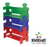 Kidkraft Puzzle Bookcase - Primary, Childrens Furniture, Kids Storage