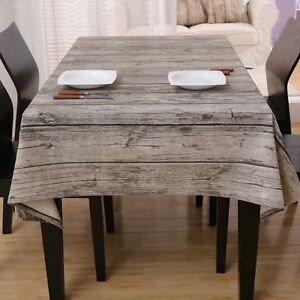 Image Is Loading Wood Grain Dinning Table Tablecloth Coffee Desktop