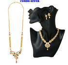 Combo Offer Indian 22K Gold Plated Rani Haar & Necklace Earrings Set J35 & N8