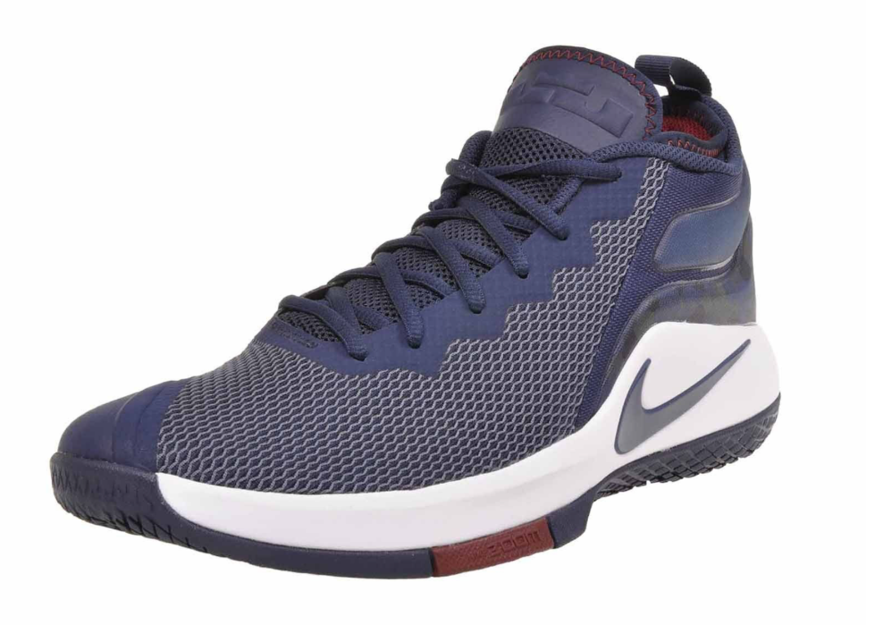 Nike Zoom Witness II Lebron James Mid bluee Red White  100 942518-406 Mens 9.5 12