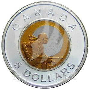 CANADA-Canadian-5-Hunter-039-s-Moon-Sterling-Silver-amp-Niobium-Coin-2011