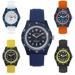 Mens-Wristwatch-NAUTICA-IBIZA-Silicone-Coloured-Sub-100mt-Depth-Gauge-NEW-Summer