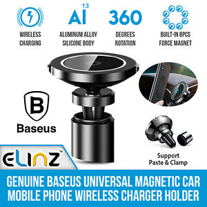 Genuine Baseus Universal Magnetic Car Phone Mobile Holder Stand Wireless Charger