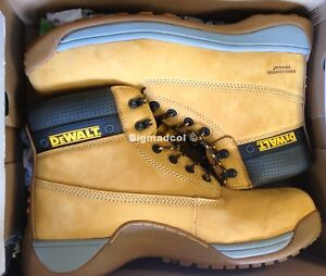 15d8184ad1e Details about DeWALT Mason Mens steel toe capped leather safety boots Uk 10  NEW