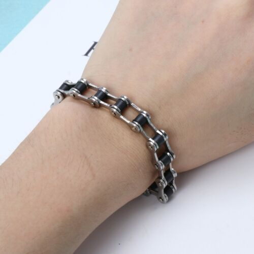 High Quality Classic Stainless Steel Biker Motorcycle Chain Men Bracelet Jewelry