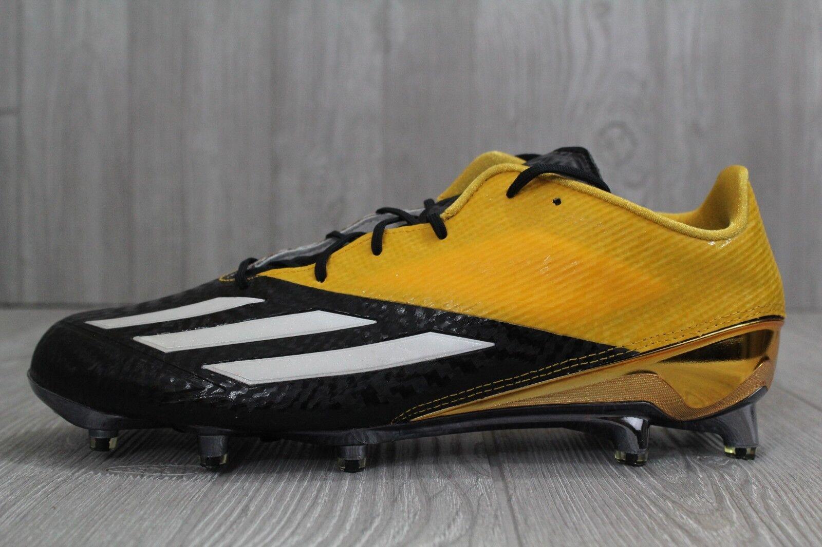 30 New Adidas AdiZero Star 5.0 Football Cleats Black Yellow Men's 11 12.5 AQ7173