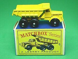 Matchbox-Lesney-No-6c-Euclid-Quarry-Truck-En-Caja-tipo-034-D2-039-Serie